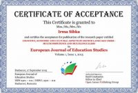 Certificate Of Acceptance Template 6