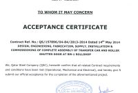 Certificate Of Acceptance Template 7