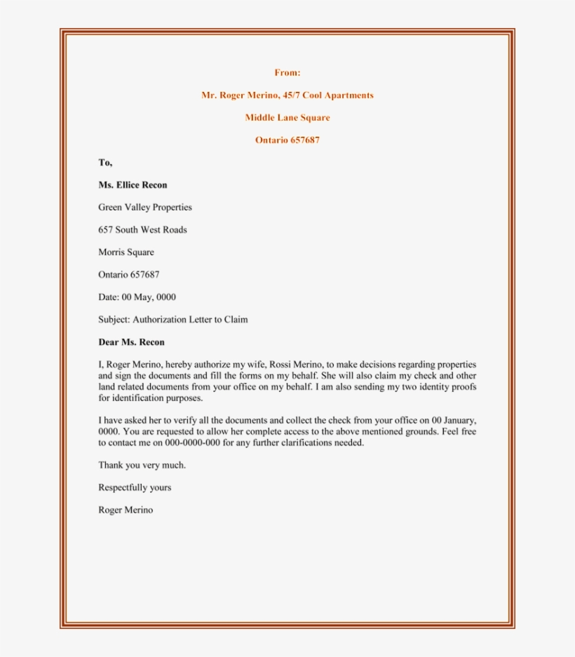 Certificate Of Authorization Template 4