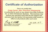 Certificate Of Authorization Template 5
