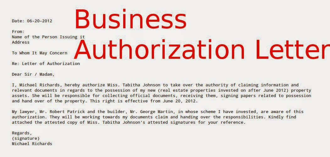 Certificate Of Authorization Template 6