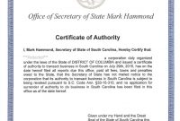 Certificate Of Authorization Template 7