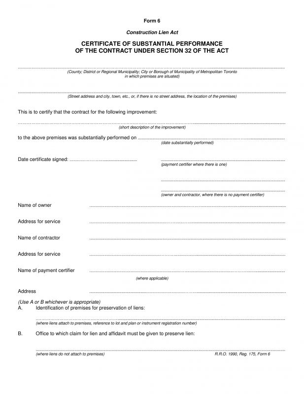 Certificate Of Completion Template Construction 3