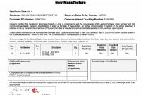 Certificate Of Conformance Template Free 8