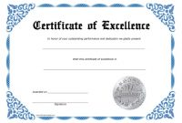 Certificate Of Excellence Template Free Download 11