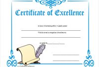 Certificate Of Excellence Template Free Download 4