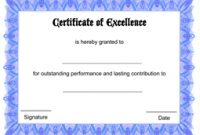 Certificate Of Excellence Template Free Download 7