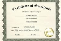 Certificate Of Excellence Template Free Download 8