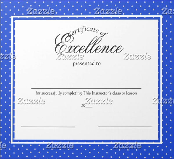 Certificate Of Excellence Template Free Downloadv 5