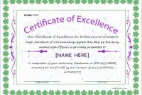 Certificate Of Excellence Template Word 3