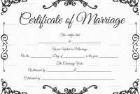 Certificate Of Marriage Template 2