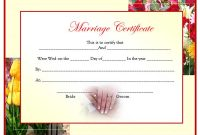 Certificate Of Marriage Template 3