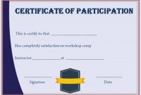 Certificate Of Participation In Workshop Template 3