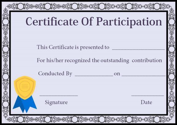 Certificate Of Participation In Workshop Template 6