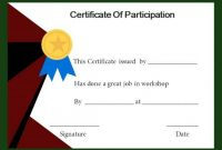 Certificate Of Participation In Workshop Template 7