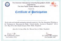 Certificate Of Participation In Workshop Template 9