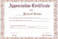 Certificate Of Service Template Free 4