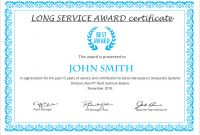 Certificate Of Service Template Free 7