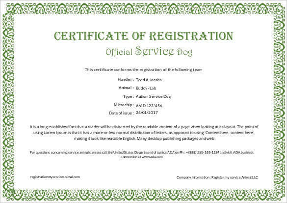 Certificate Of Service Template Free 8