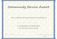 Certificate Of Service Template Free 9