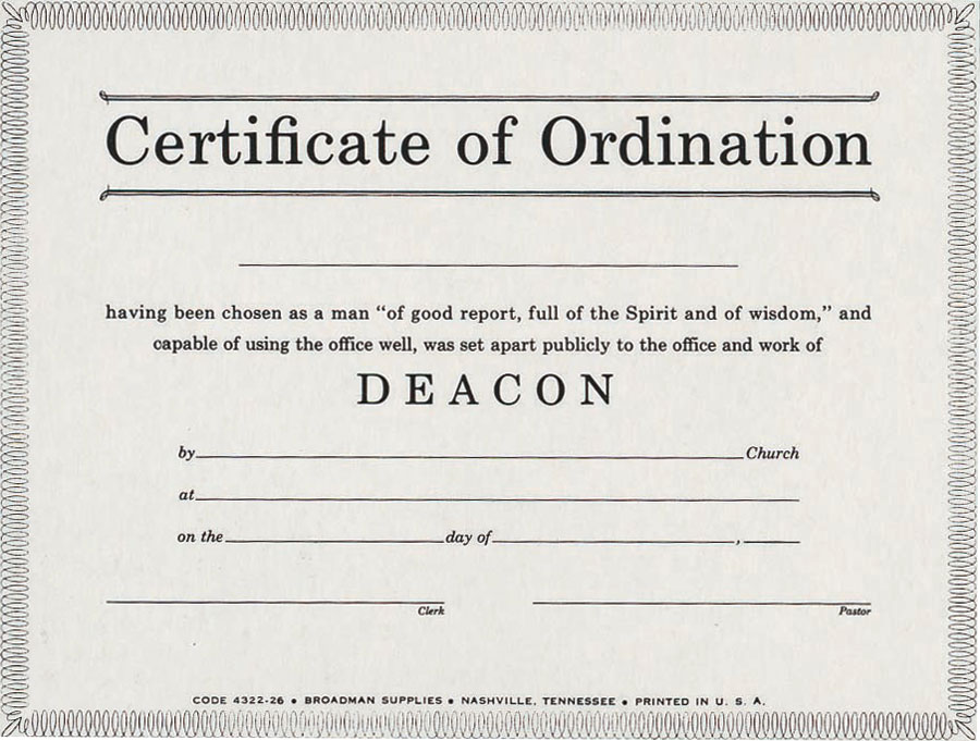 Certificate Of Ordination Template 5
