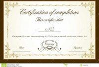 Psd Print Certificate Template Free