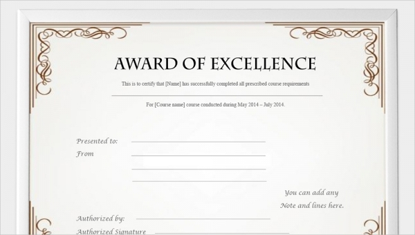 Certificate Templates For Word Free Downloads 7
