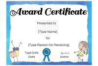 Children's Certificate Template 10