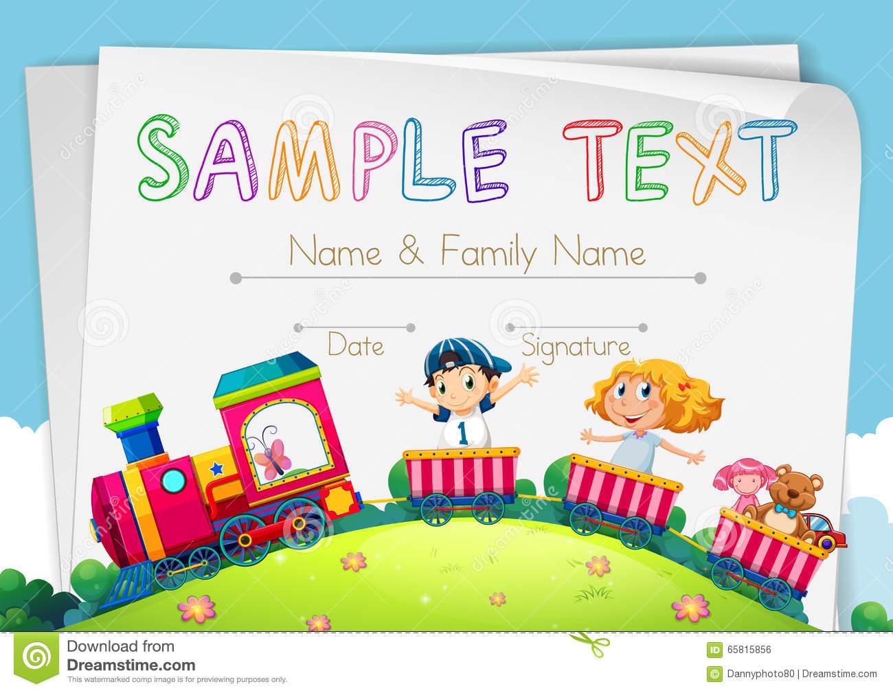Children's Certificate Template 11