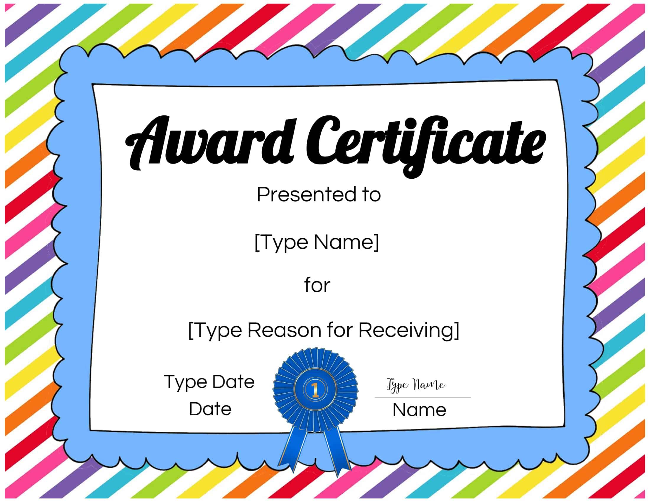 Children's Certificate Template 4
