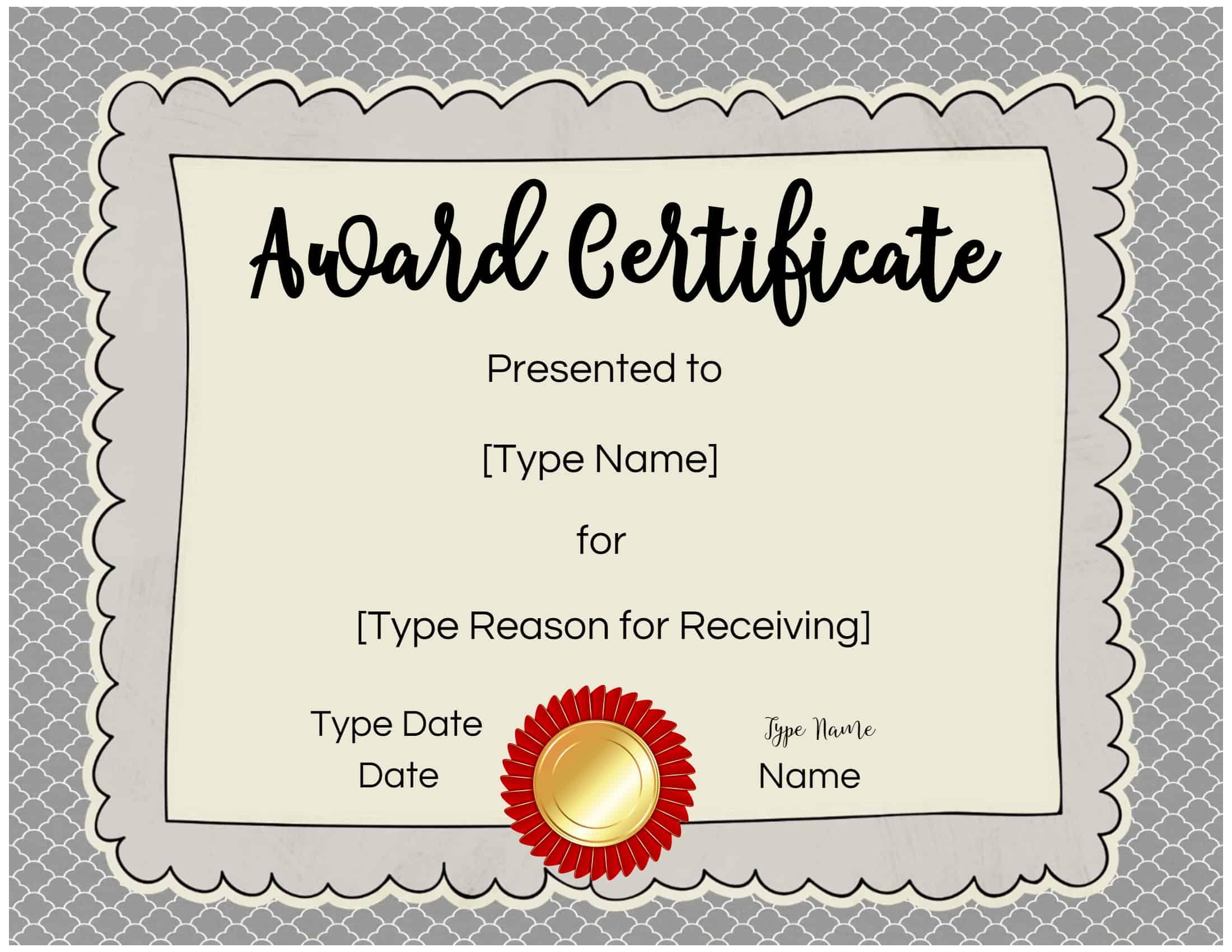 Children's Certificate Template 6