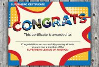 Children's Certificate Template 7