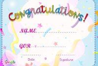 Children's Certificate Template 9