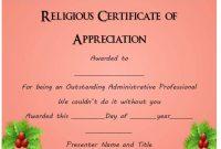 Christian Certificate Template 0
