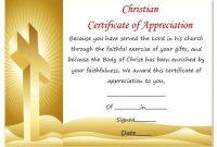 Christian Certificate Template 6