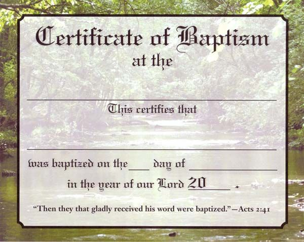Christian Certificate Template 8