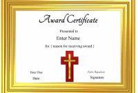 Christian Certificate Template 9