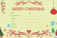 Christmas Gift Certificate Template Free Download 10