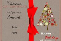 Christmas Gift Certificate Template Free Download 11