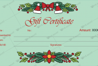 Christmas Gift Certificate Template Free Download 3