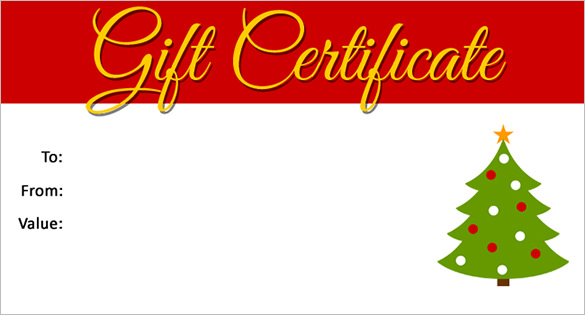 Christmas Gift Certificate Template Free Download 4