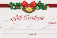 Christmas Gift Certificate Template Free Download 5