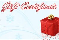 Christmas Gift Certificate Template Free Download 6