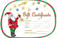 Christmas Gift Certificate Template Free Download 7