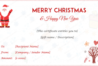 Christmas Gift Certificate Template Free Download 8