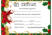 Christmas Gift Certificate Template Free Download 9