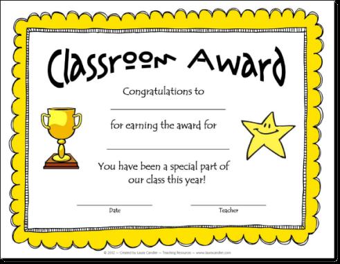 Classroom Certificates Templates
