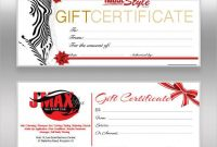 Company Gift Certificate Template 3