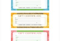 Company Gift Certificate Template 5
