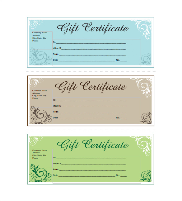 Company Gift Certificate Template 7